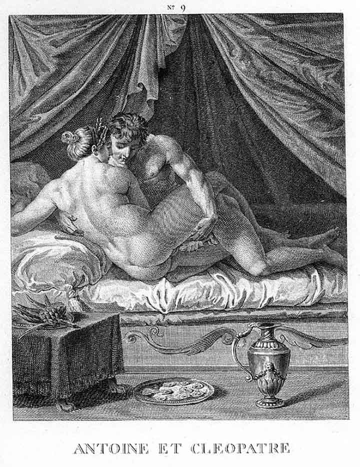 "Агостино Карраччи (Agostino Carracci) (Engraves) ""Антоний и Клеопатра 