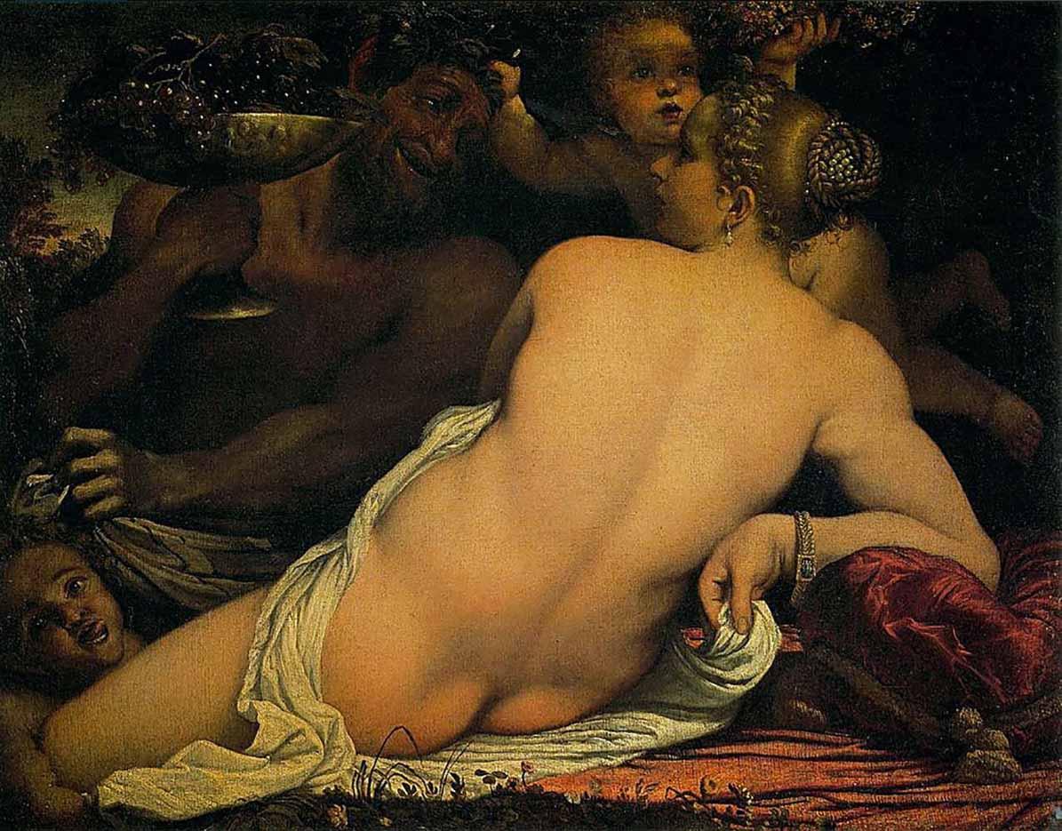 "Аннибале Карраччи (Annibale Carracci) ""Venus and Satyr with Two Cupids"""
