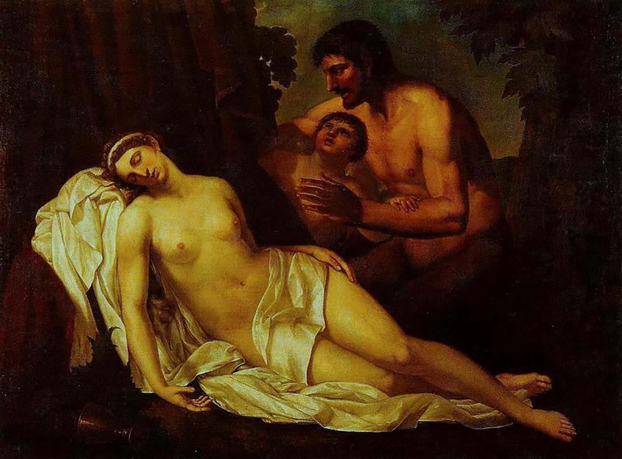 "Аннибале Карраччи (Annibale Carracci) ""Venus inebriated by a Satyr"""