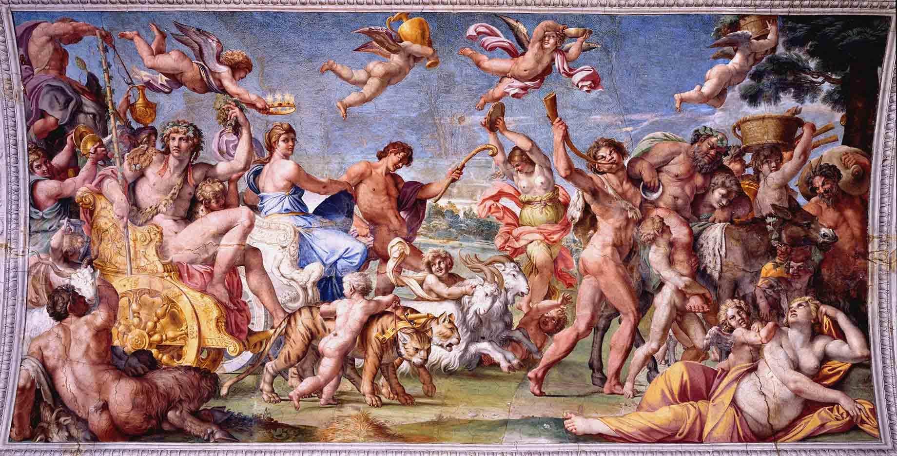 "Аннибале Карраччи (Annibale Carracci) ""Triumph of Bacchus and Ariadne"""