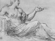 "Аннибале Карраччи (Annibale Carracci) ""Circe, study for fresco of ""Ulysses & Circe"""""