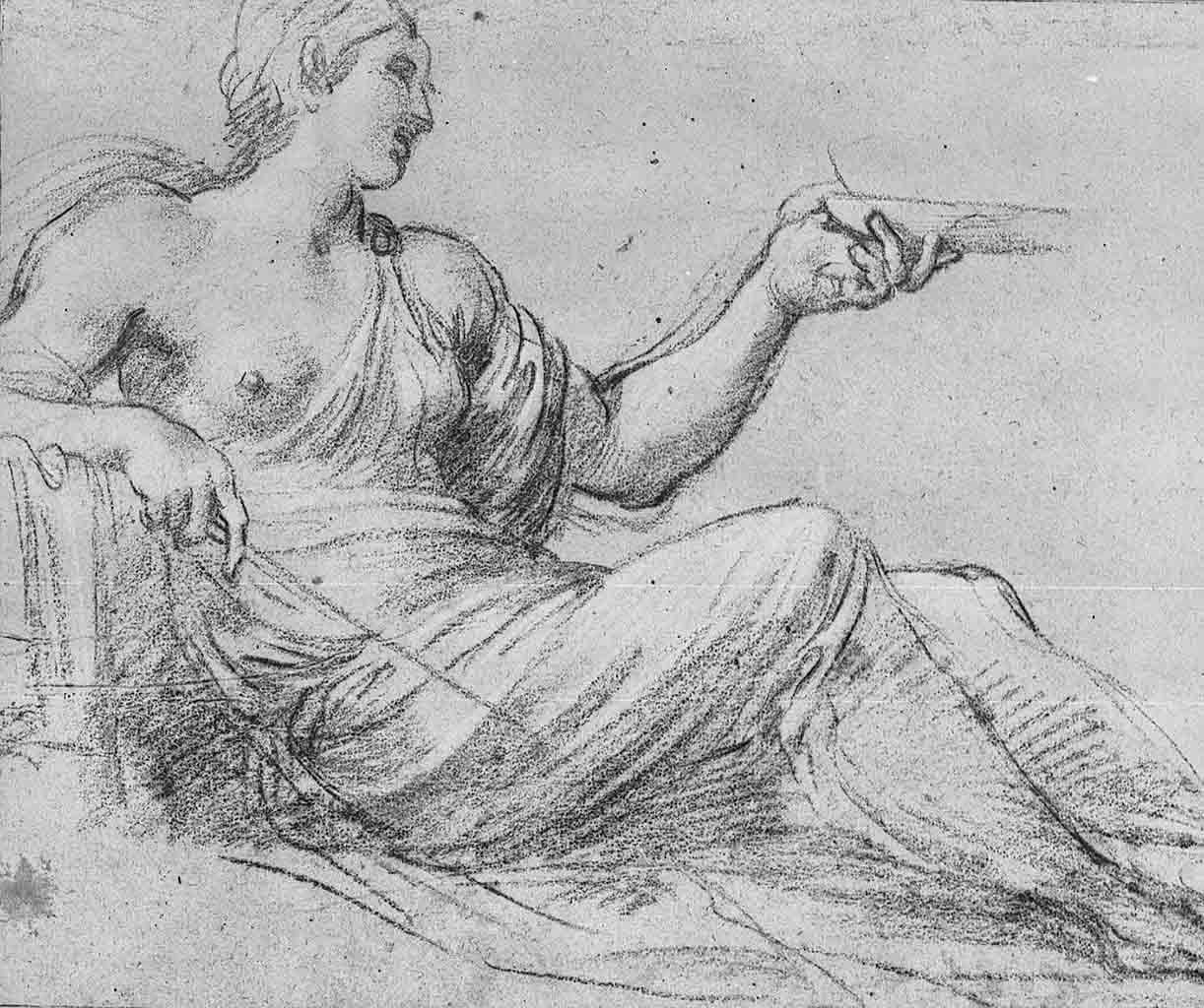 "Аннибале Карраччи (Annibale Carracci) ""Circe, study for fresco of ""Ulysses & Circe"""""