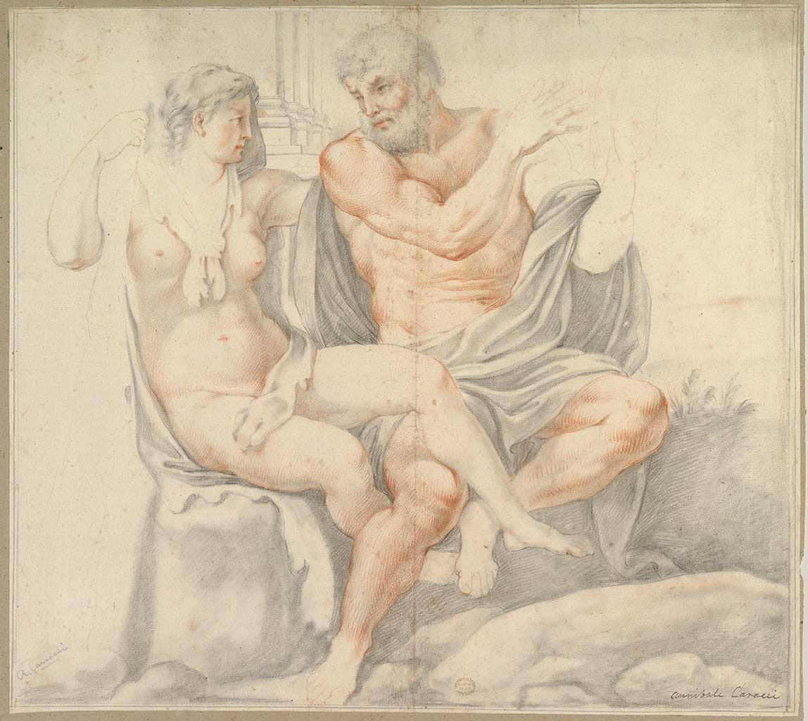 "Аннибале Карраччи (Annibale Carracci) ""Hercules and Omphale"""