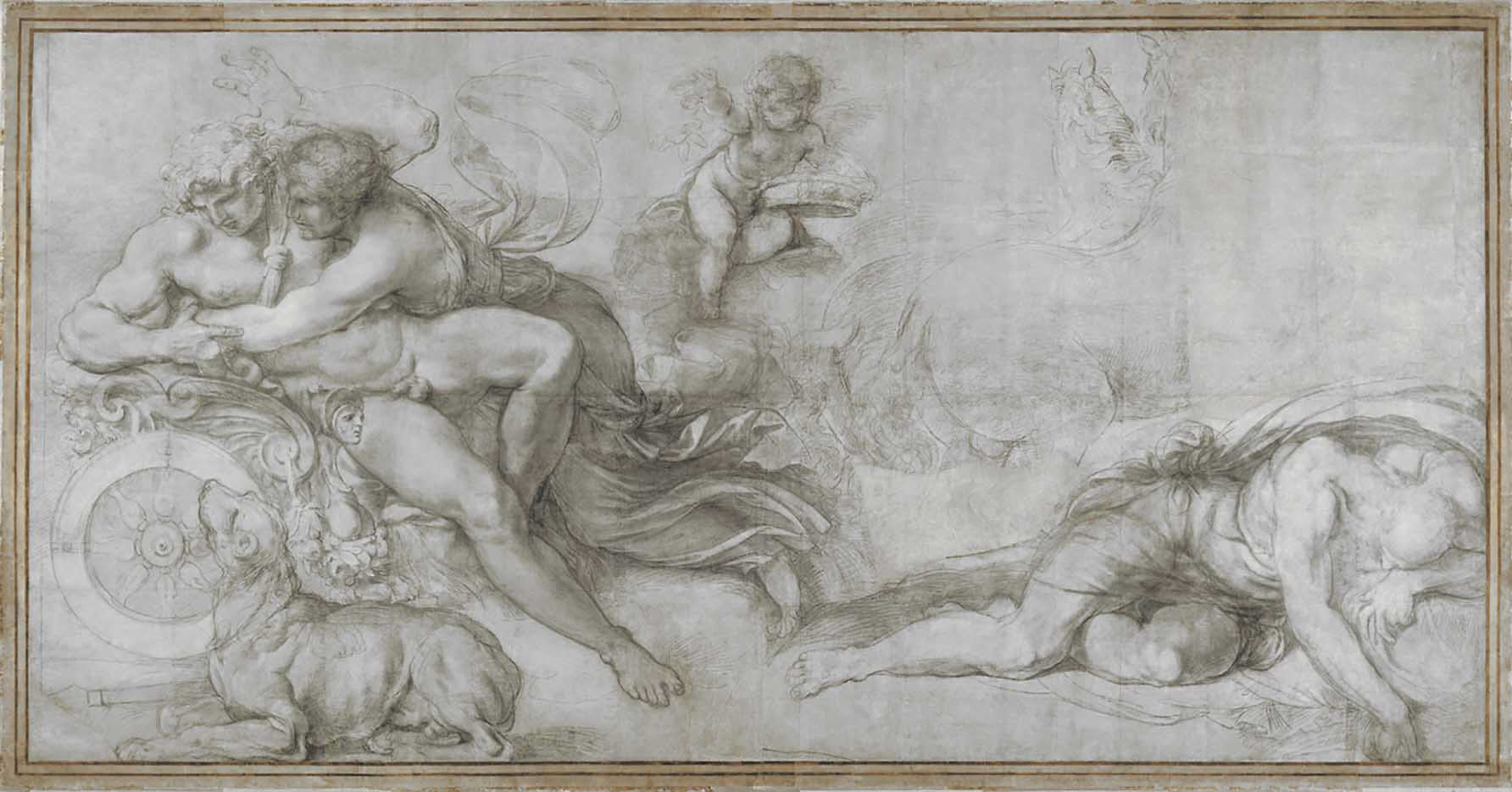 "Аннибале Карраччи (Annibale Carracci) ""Aurora and Cephalus"""