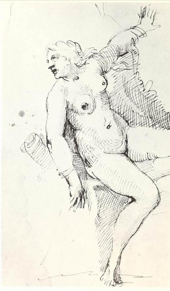 "Аннибале Карраччи (Annibale Carracci) ""Sketch for Andormeda fresco"""
