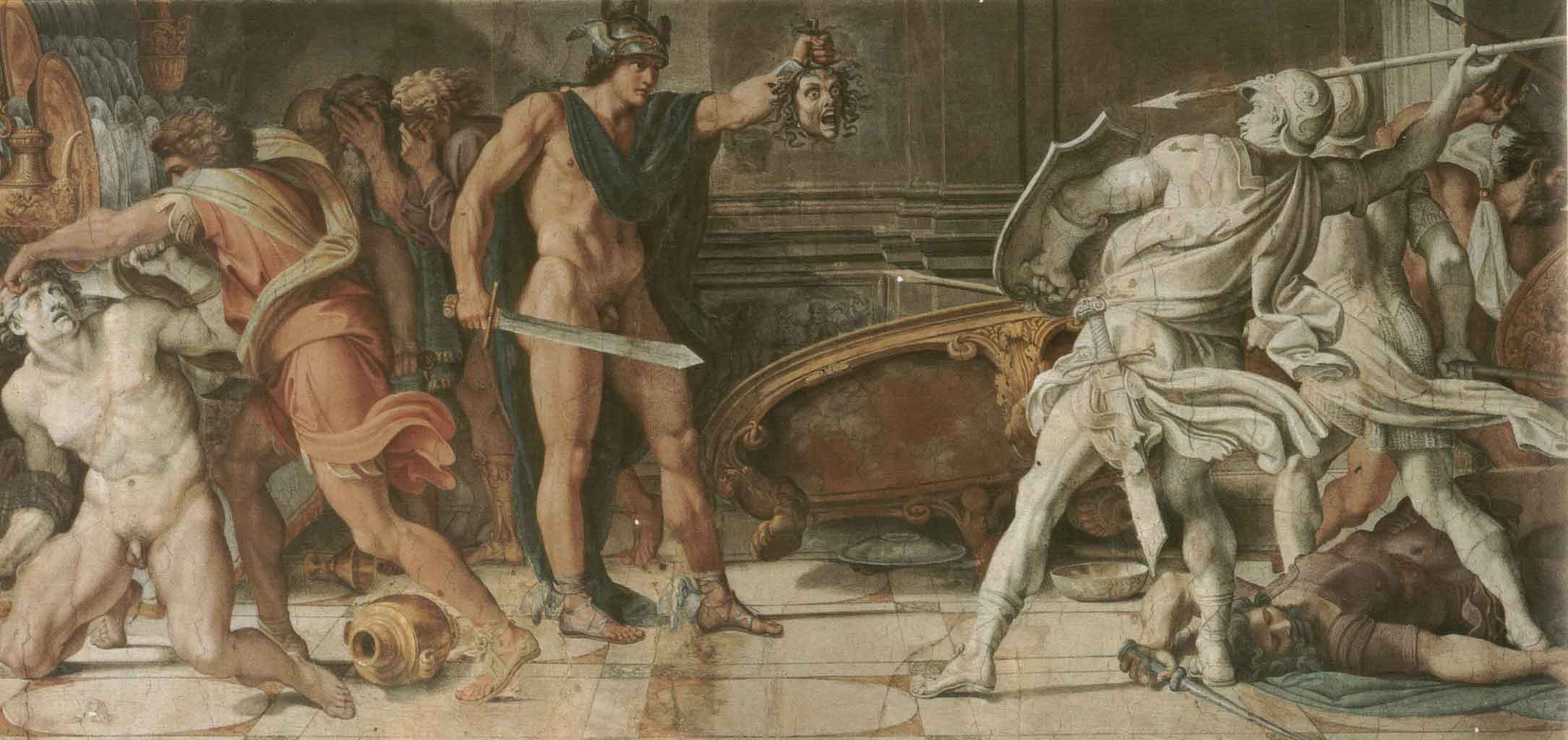 "Аннибале Карраччи (Annibale Carracci) ""Perseus and Phineas"""