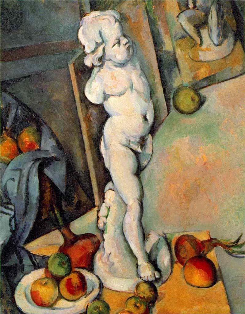 """Поль Сезанн (Paul Cezanne), """"Натюрморт с гипсовым Амуром"""""""