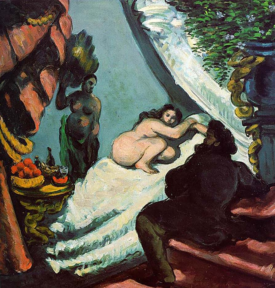 """Поль Сезанн (Paul Cezanne), """"Современная Олимпия"""""""