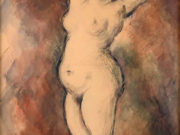 """Поль Сезанн (Paul Cezanne), """"Стоящая обнаженная"""""""