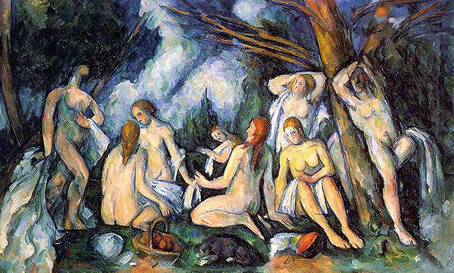 """Поль Сезанн (Paul Cezanne), """"Большие купальщицы"""""""