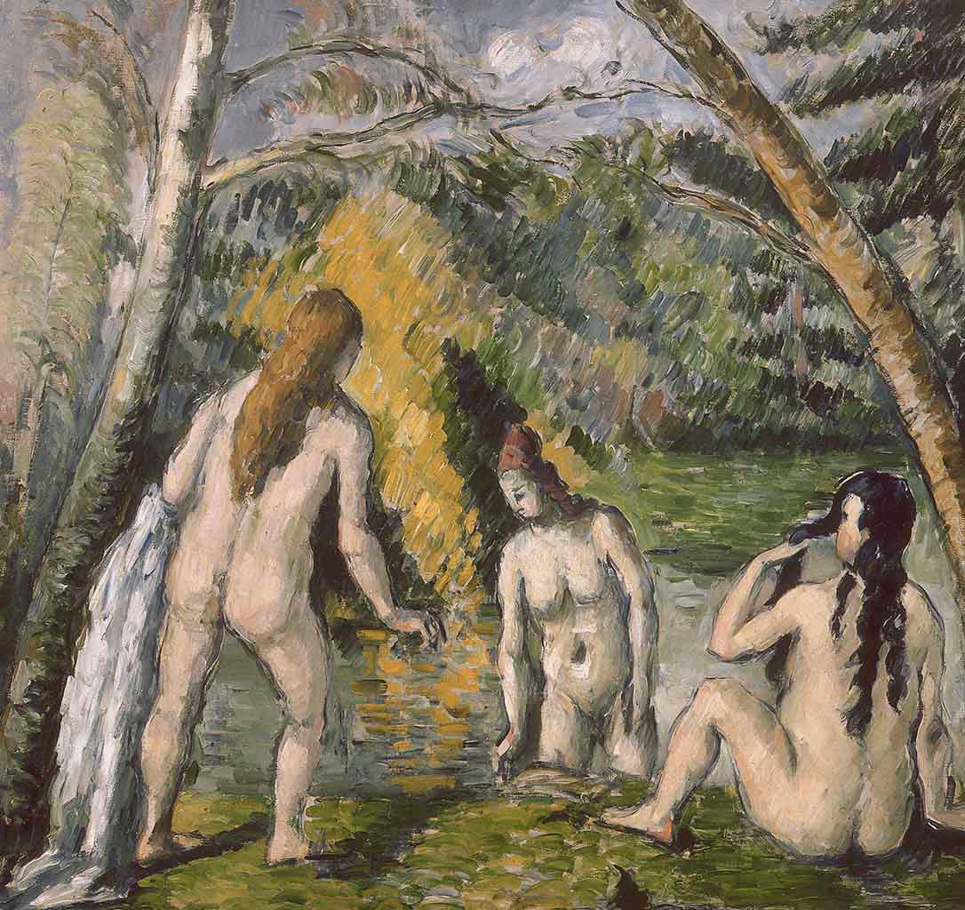 "Поль Сезанн (Paul Cezanne), ""Drei badende Frauen"""