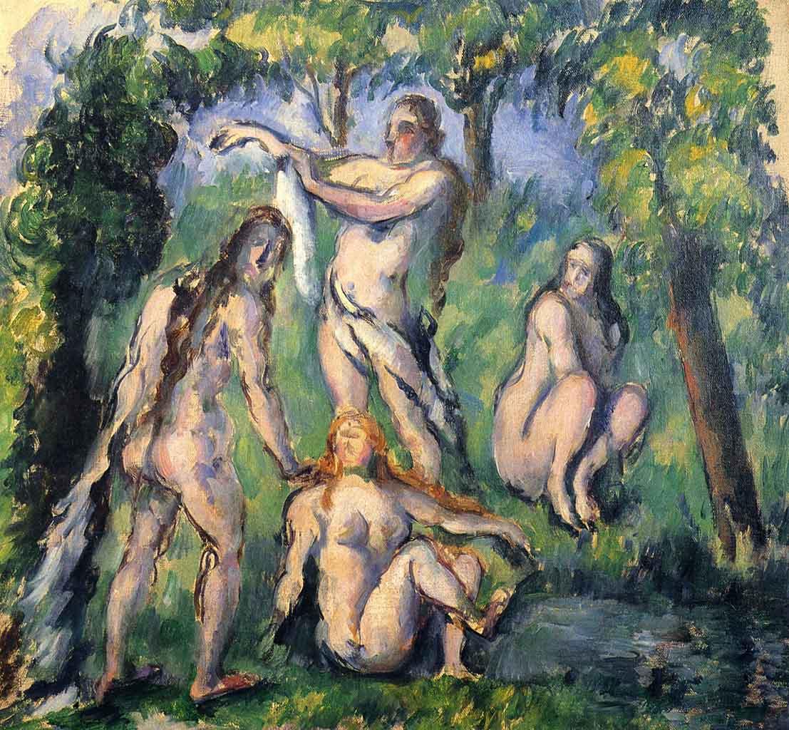 """Поль Сезанн (Paul Cezanne), """"Badende - 2"""""""
