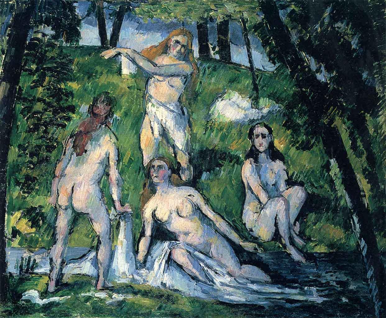 """Поль Сезанн (Paul Cezanne), """"Badende - 4"""""""