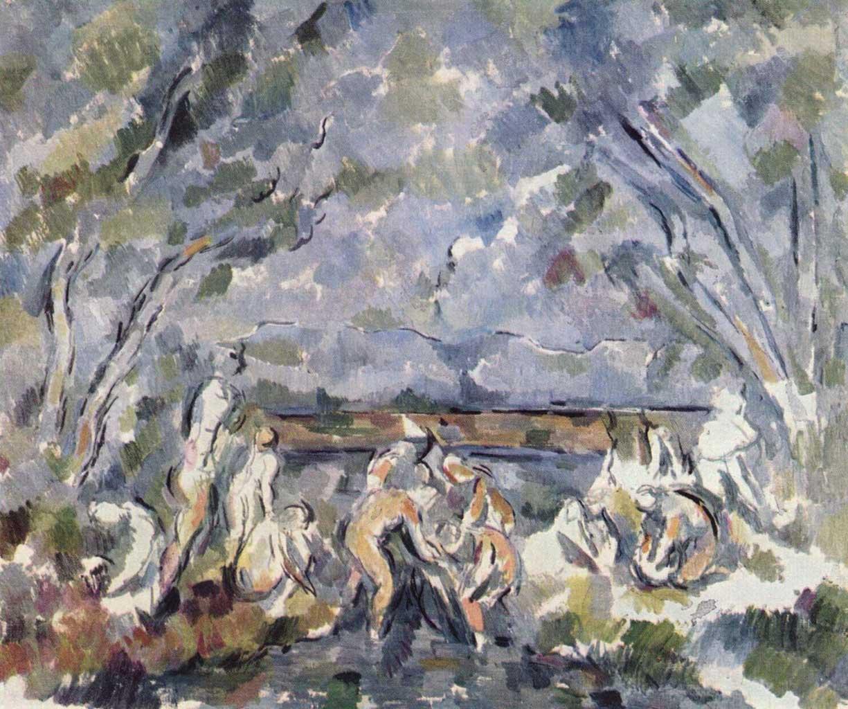 """Поль Сезанн (Paul Cezanne), """"Badende - 5"""""""