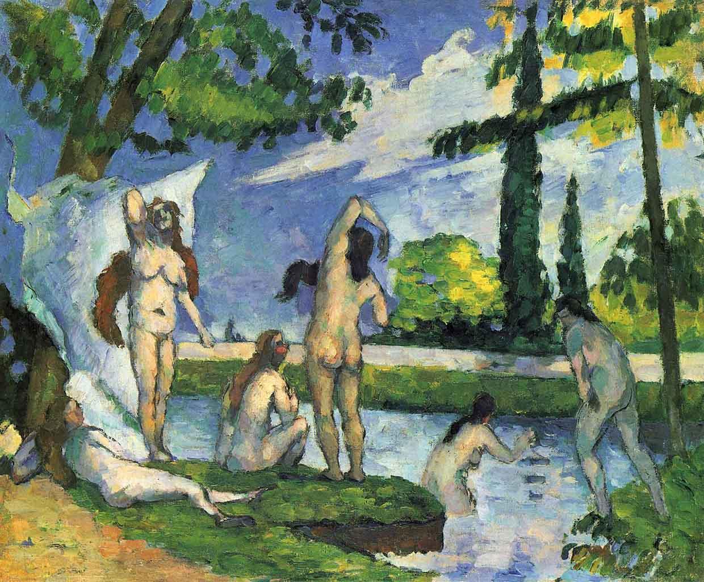 """Поль Сезанн (Paul Cezanne), """"Badende - 6"""""""
