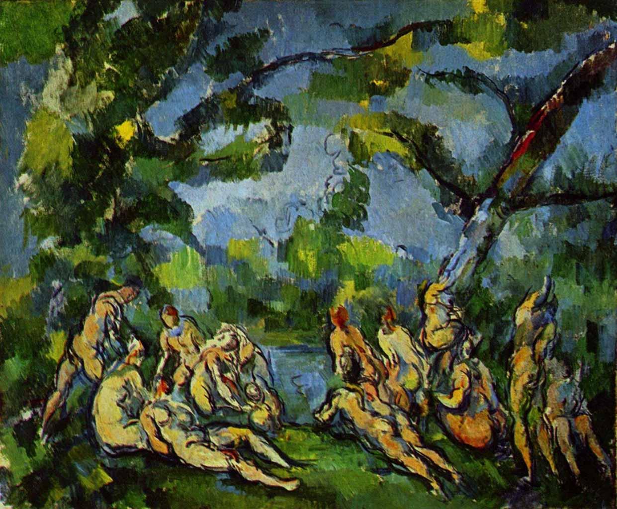 """Поль Сезанн (Paul Cezanne), """"Badende - 7"""""""