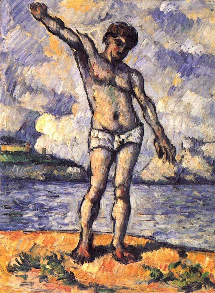 """Поль Сезанн (Paul Cezanne), """"Badender mit ausgestreckten Armen """""""