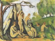 "Поль Сезанн (Paul Cezanne), ""Bathers in front of a tend """