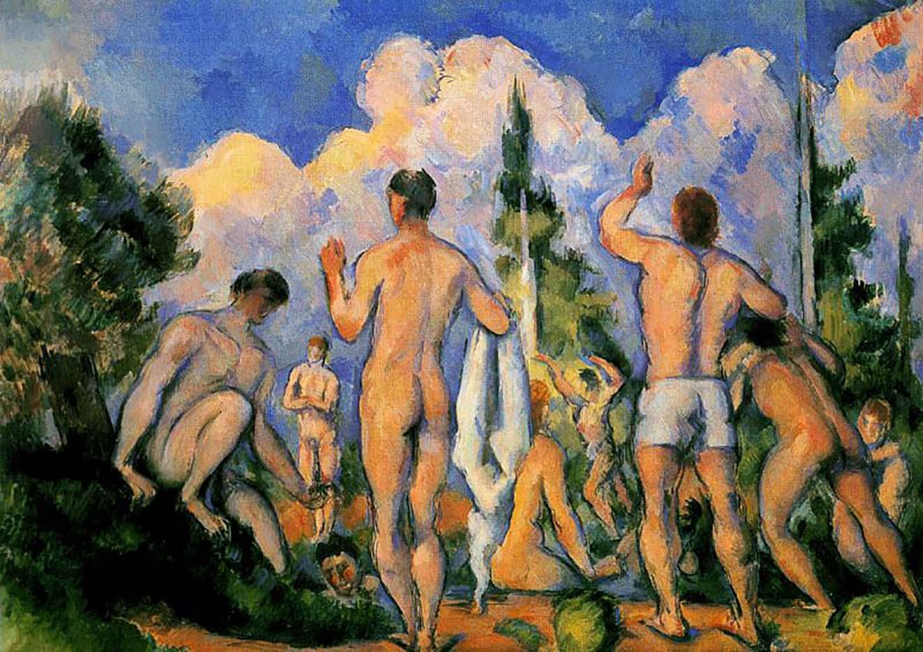 """Поль Сезанн (Paul Cezanne), """"Группа купальщиков"""""""