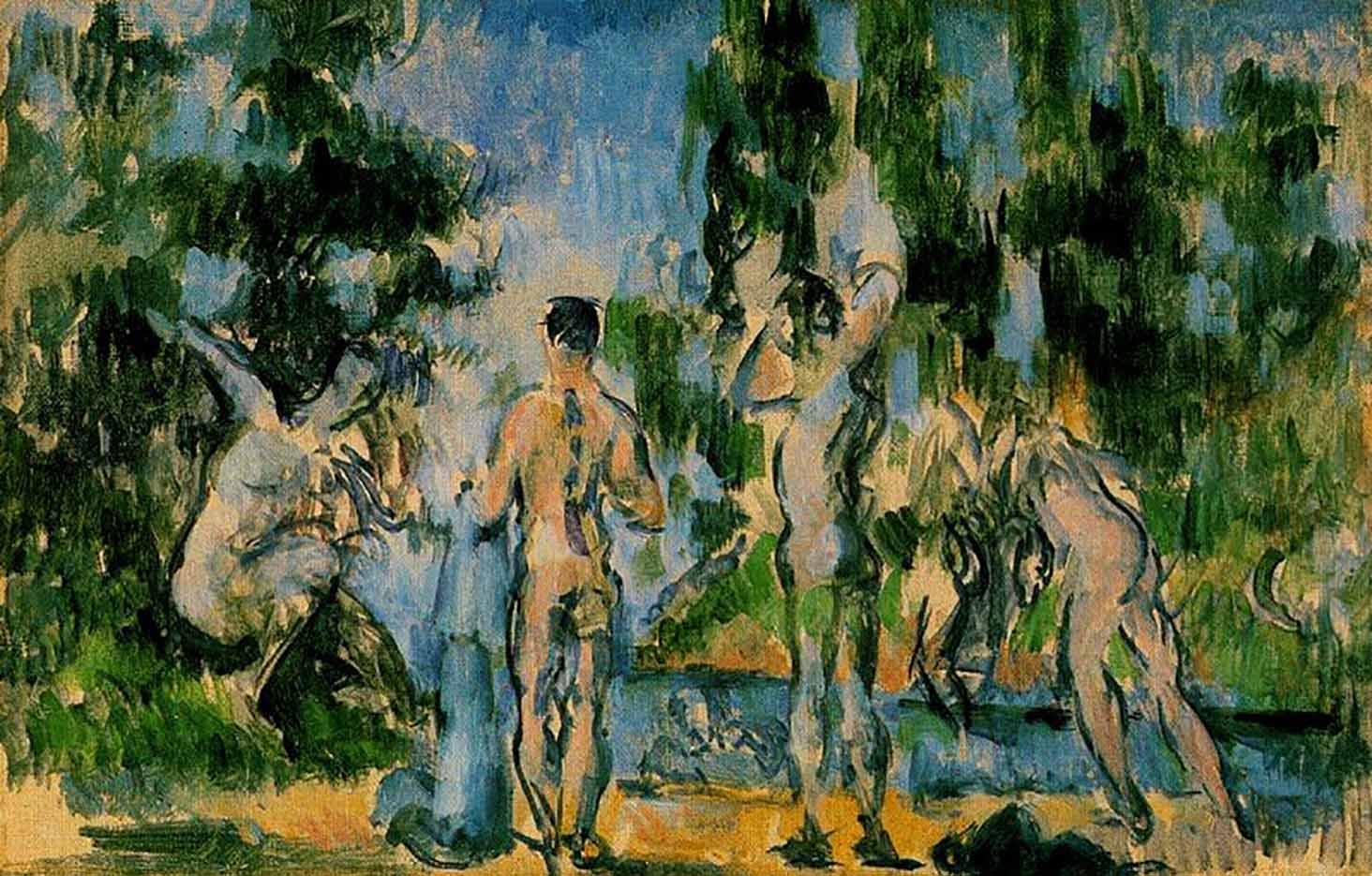 "Поль Сезанн (Paul Cezanne), ""Купальщики - 3"""