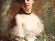 """Шарль Шаплен (Charles Chaplin) """"Young Woman with Flower"""""""