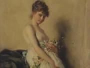 "Шарль Шаплен (Charles Chaplin) ""Gorl with garland of flowers"""