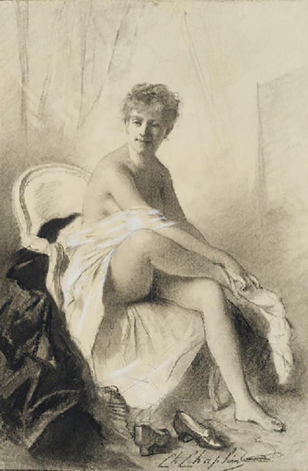 """Шарль Шаплен (Charles Chaplin) """"Femme assise revêtant ses bas"""""""