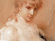 """Шарль Шаплен (Charles Chaplin) """"Portrait de jeune femme en buste"""""""