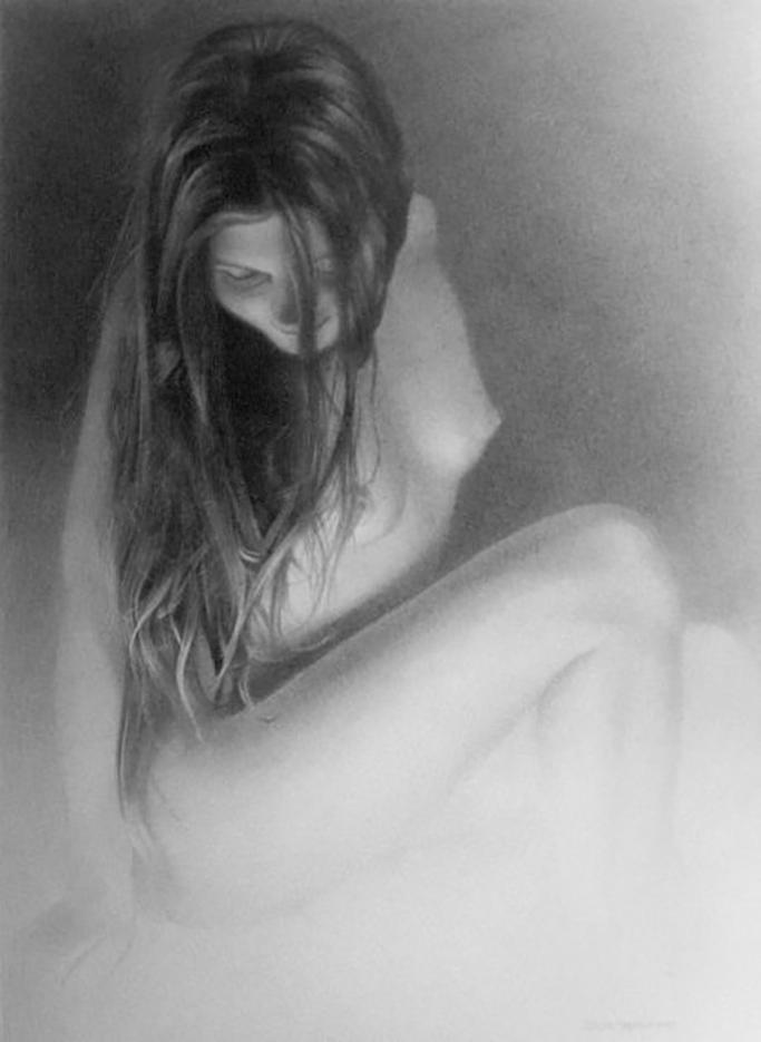 """Денис Чернов (Denis Chernov), рисунок, """"Модель II"""""""