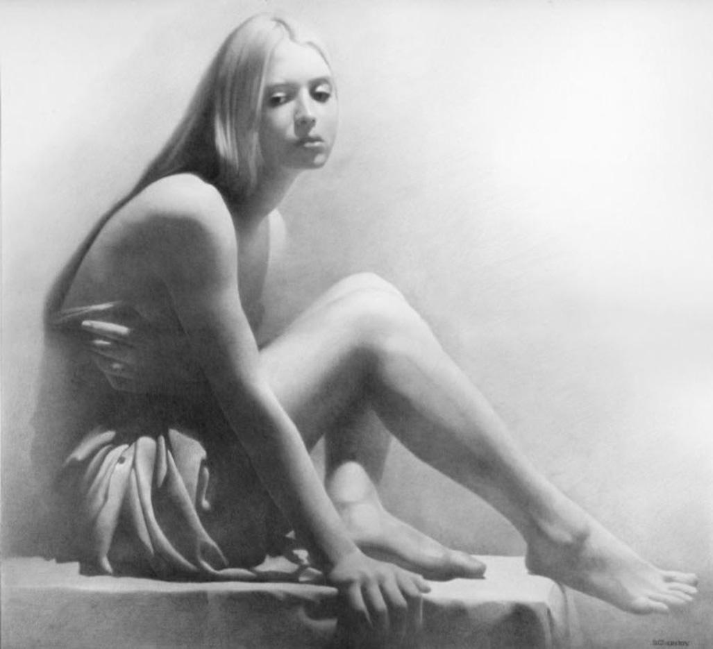 """Денис Чернов (Denis Chernov), рисунок, """"Модель III"""""""