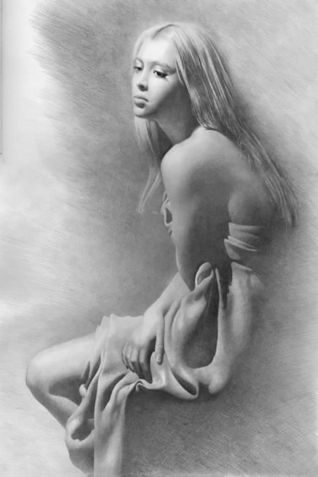 """Денис Чернов (Denis Chernov), рисунок, """"Модель VII"""""""