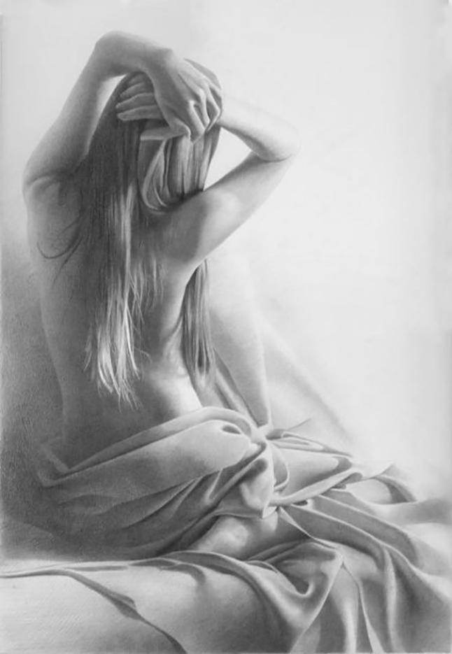 """Денис Чернов (Denis Chernov), рисунок, """"Модель XI"""""""