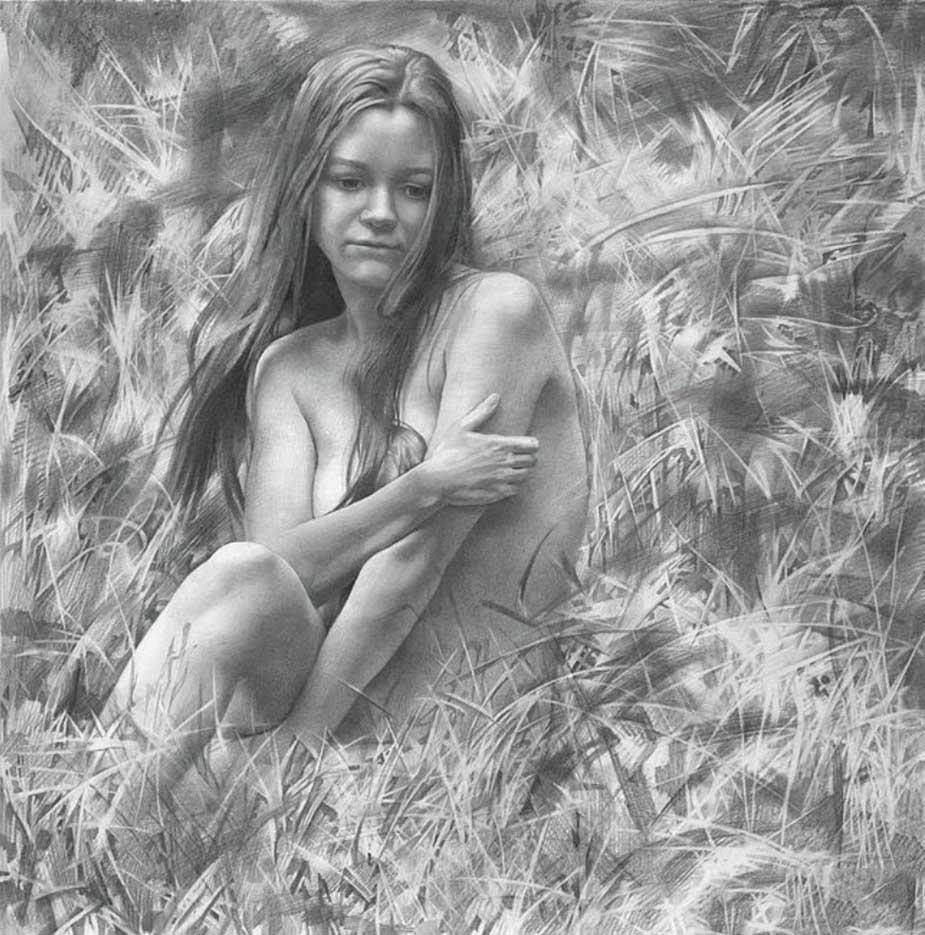 """Денис Чернов (Denis Chernov), рисунок, """"Модель XXII"""""""