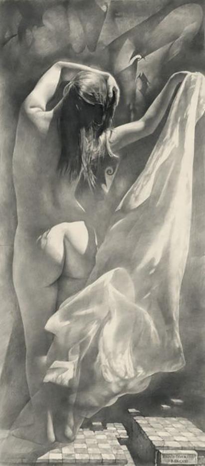"""Денис Чернов (Denis Chernov), рисунок, """"Шахматная королева"""""""