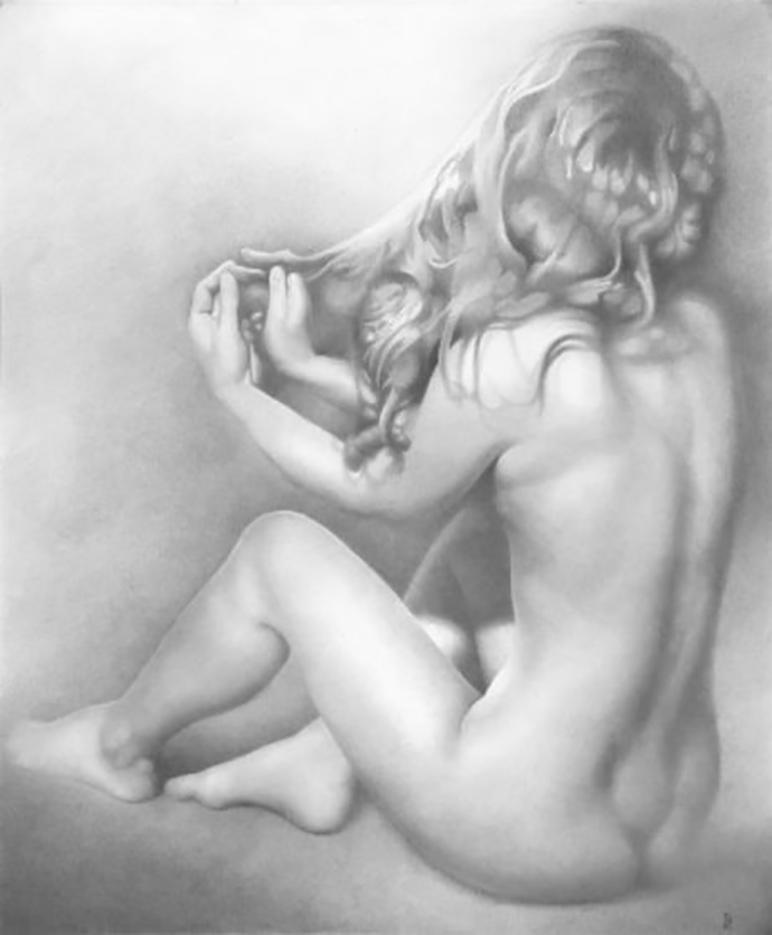 """Денис Чернов (Denis Chernov), рисунок, """"Модель NN"""""""