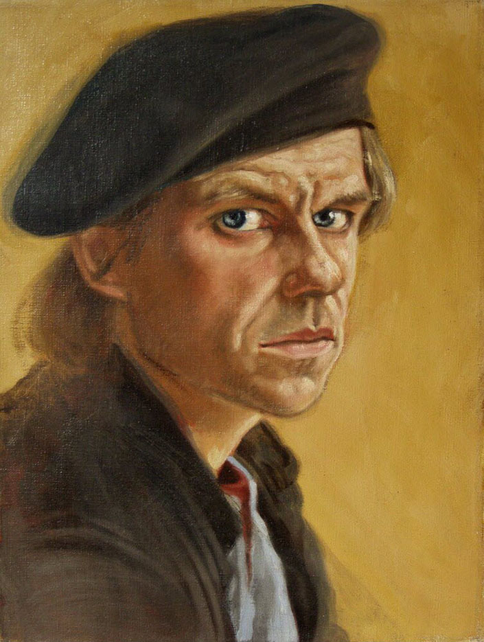 "Энтони Кристиан (Anthony Christian) ""Self – Portrait in a Beret"""