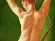 "Энтони Кристиан (Anthony Christian) ""Back View Nude With Feathers"""