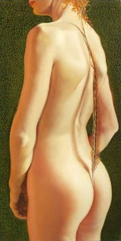 "Энтони Кристиан (Anthony Christian) ""Green Nude With Feather"""
