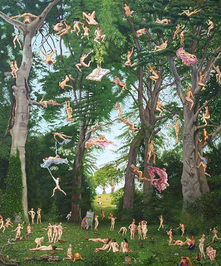 """Энтони Кристиан (Anthony Christian) """"The Artist's Thoughts Manifesting Whilst Painting The Trees At Parlington"""""""