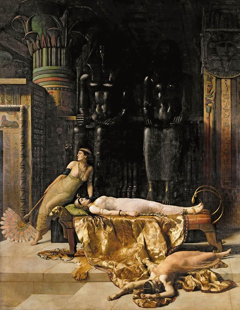 """Джон Кольер (John Collier), """"Смерть Клеопатры"""""""