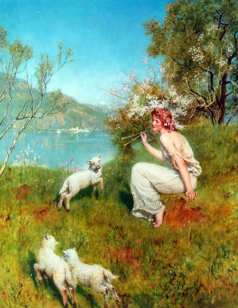 "Джон Кольер (John Collier), ""Весна"""