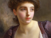 "Пьер Огюст Кот (Pierre Auguste Cot) ""Portrait of unknown young woman"""