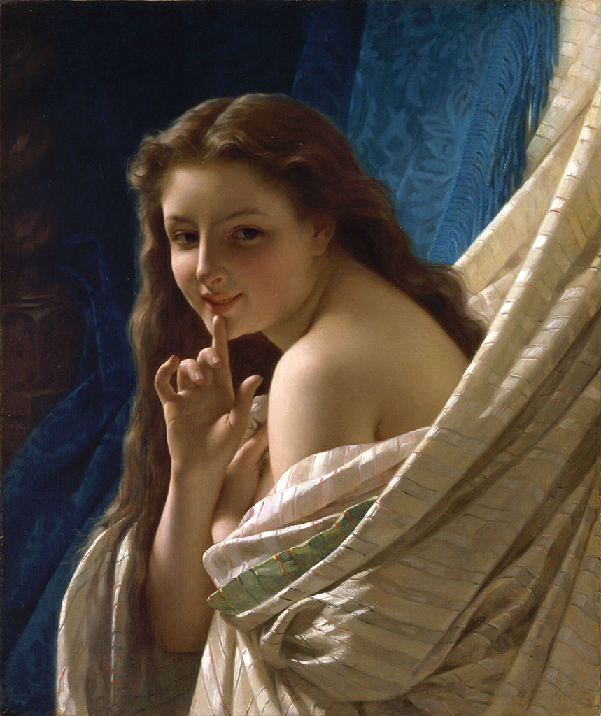 "Пьер Огюст Кот (Pierre Auguste Cot) ""Portrait of a young woman"""