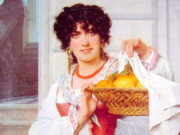 """Пьер Огюст Кот (Pierre Auguste Cot) """"Girl with Basket of Oranges and Lemons"""""""
