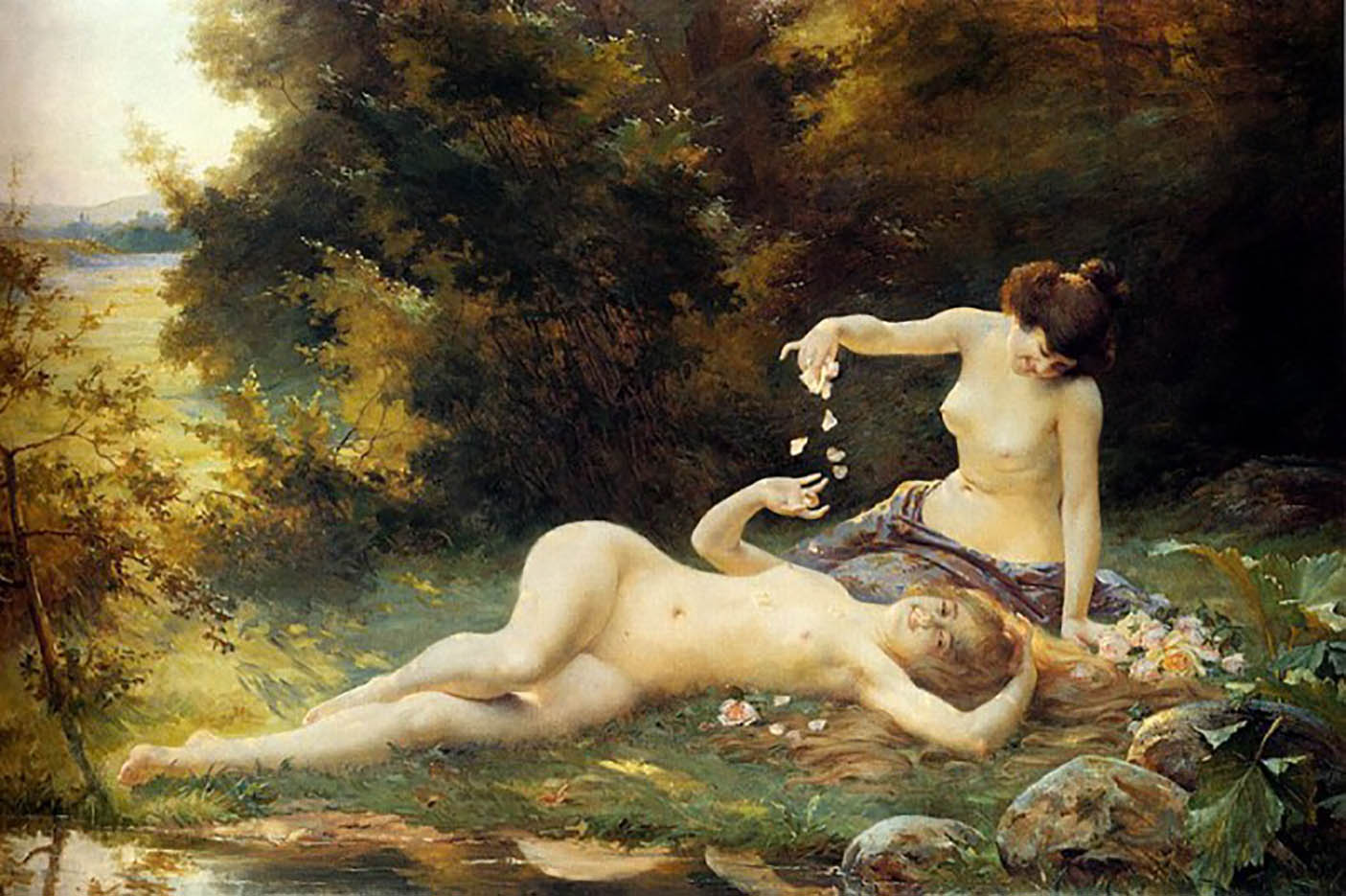 """Пьер Огюст Кот (Pierre Auguste Cot) """"Spring (3)"""""""