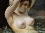 """Гюстав Курбе (Gustave Courbet), """"Женщина в волнах"""""""