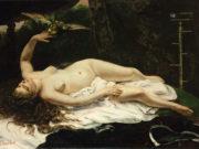 """Гюстав Курбе (Gustave Courbet), """"Женщина с попугаем """""""