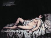 """Гюстав Курбе (Gustave Courbet), """"Полулежащая обнаженная, Reclining Nude"""""""