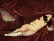 """Гюстав Курбе (Gustave Courbet), """"Спящая обнаженная, Femme nue couchee"""""""