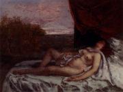 "Гюстав Курбе (Gustave Courbet), Спящая обнаженная женщина-"""
